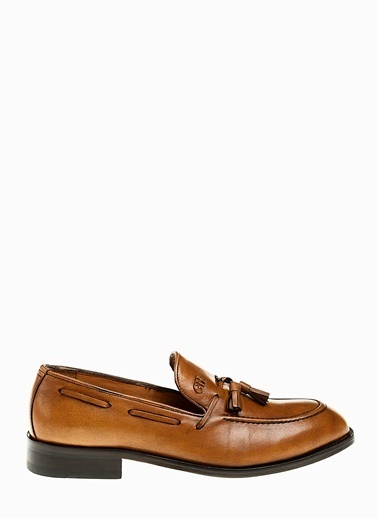 George Hogg Hakiki Deri Loafer Ayakkabı Taba